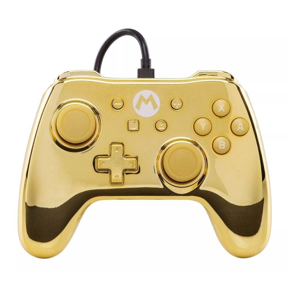 Nintendo Switch Wired iConic Controller - Chrome Mario - Nintendo Switch