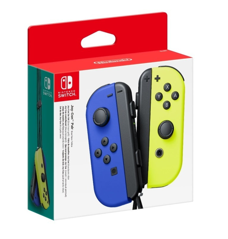 Nintendo Switch Joy-Con Blue/Neon Yellow Controller Set - Nintendo Switch