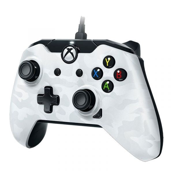 PDP Deluxe Wired Controller - White Camo - Xbox One