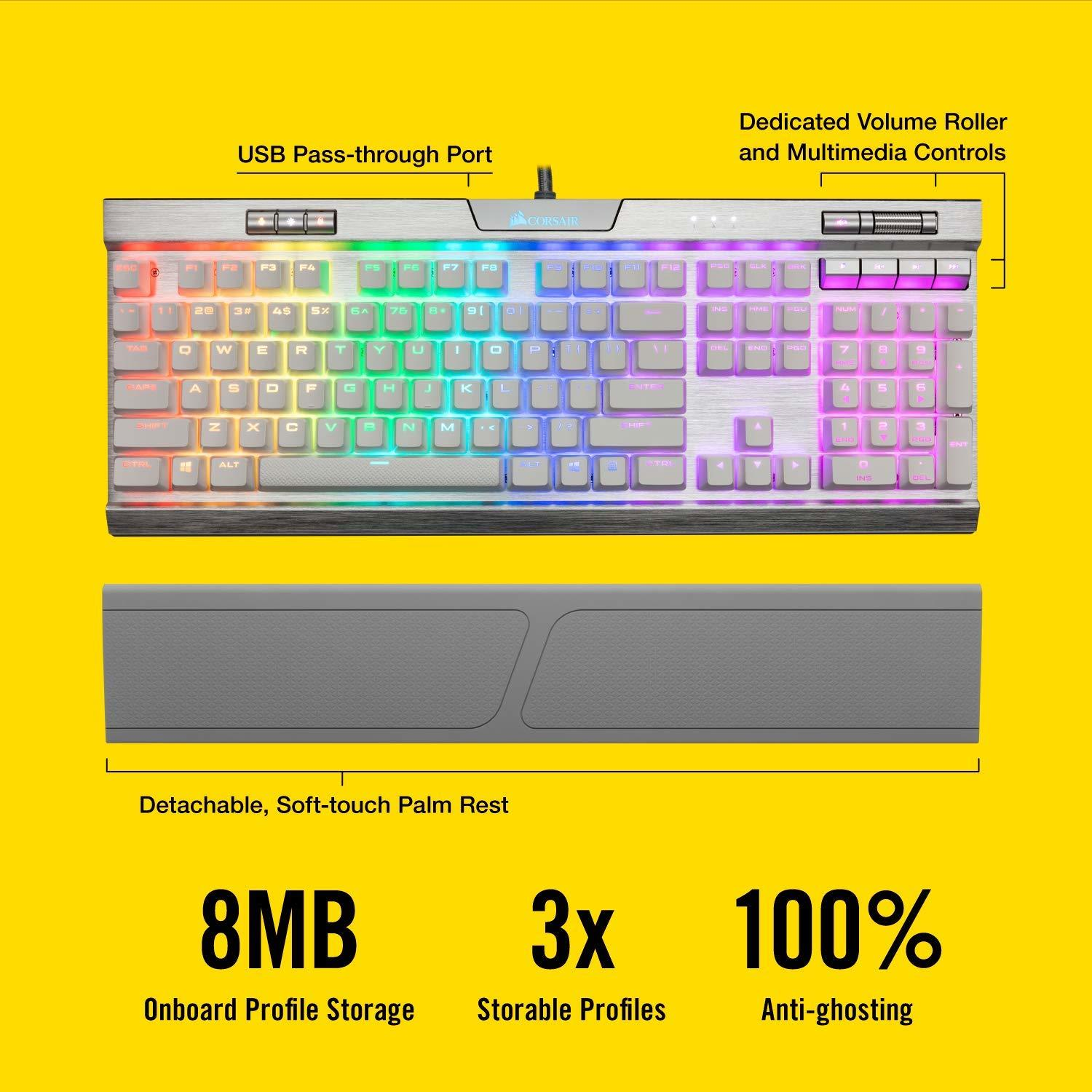 Corsair K70 RGB MK.2 SE Mechanical Gaming Keyboard (Cherry MX Speed) - PC Games