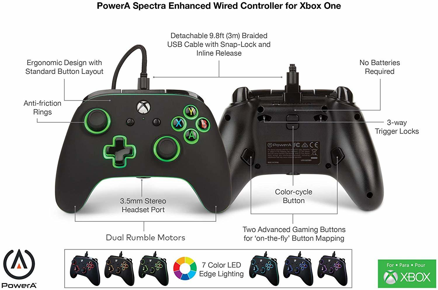 Xbox One Spectra Enhanced Wired Controller - Xbox One