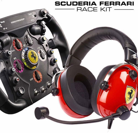 Thrustmaster Scuderia Ferrari F1 Wheel and T Racing Ferrari Headset Bundle - PS4
