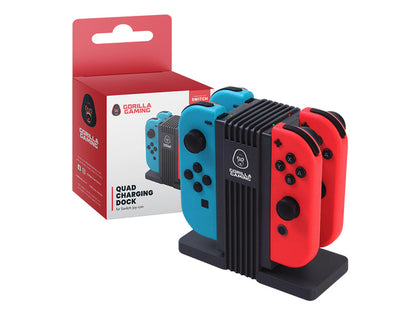 Gorilla Gaming Switch Quad Charging Dock - Nintendo Switch