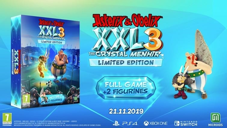 Asterix and Obelix XXL3 The Crystal Menhir Limited Edition - PS4