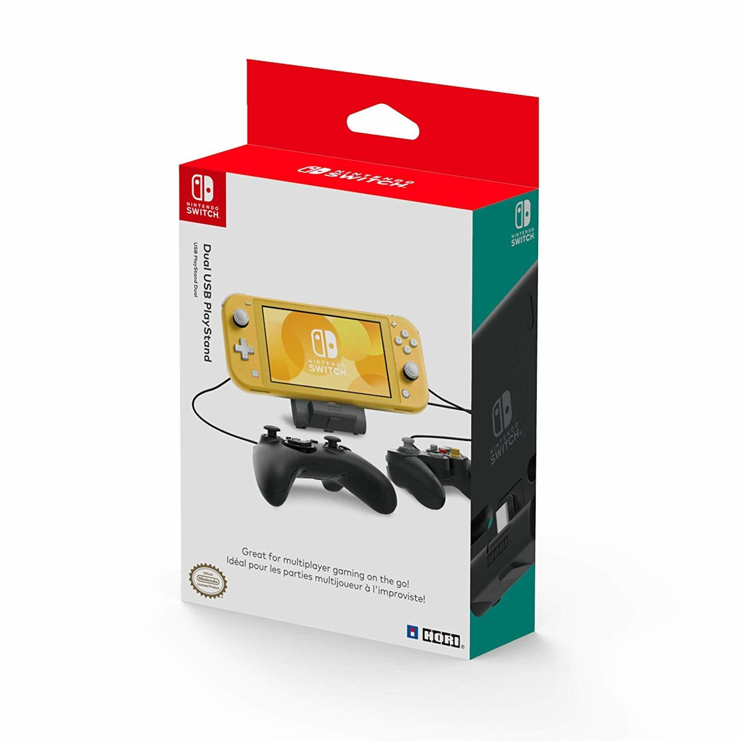 Dual USB Playstand for Nintendo Switch Lite by Hori - Nintendo Switch