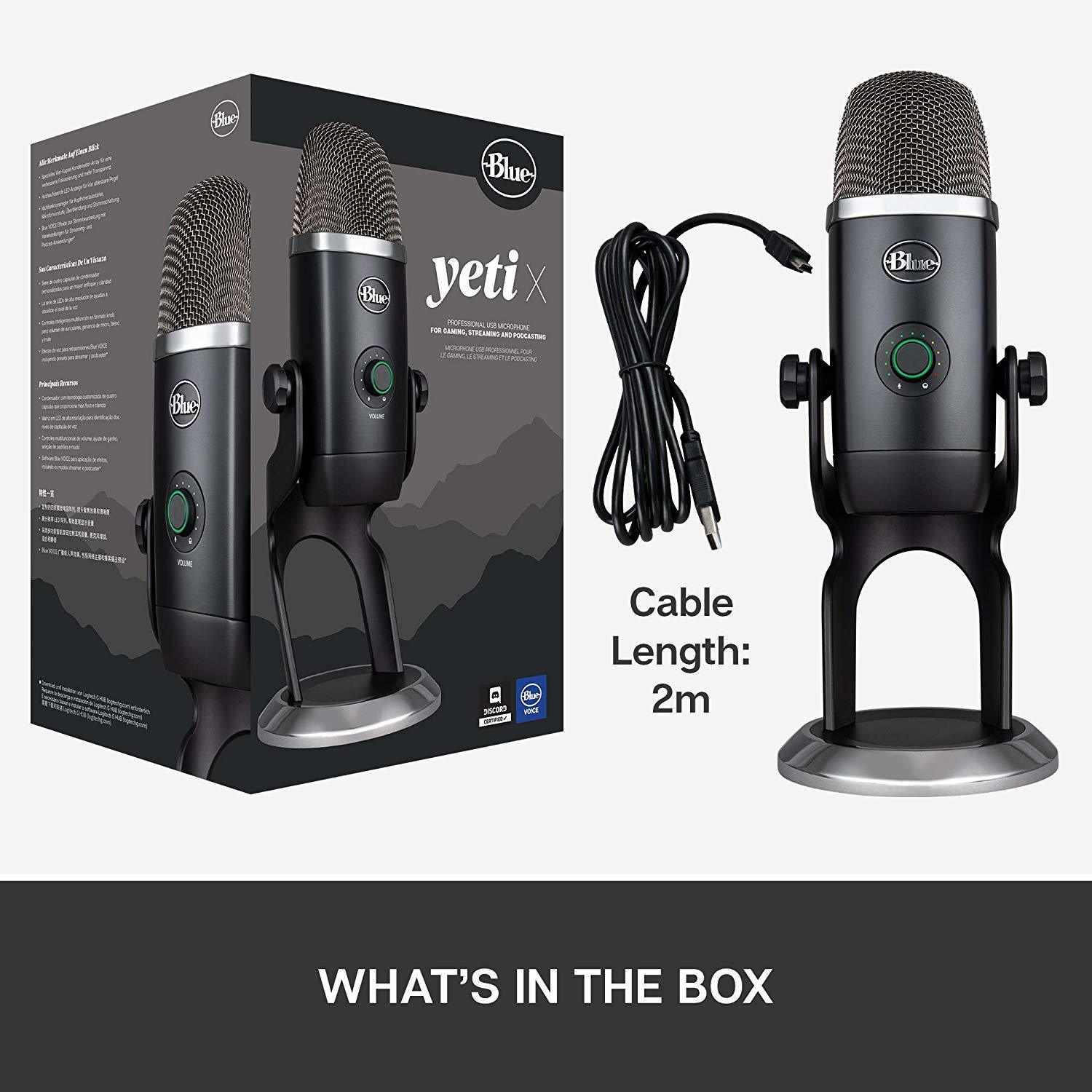 Blue Microphones Yeti X Professional USB Microphone - Black - PC Games