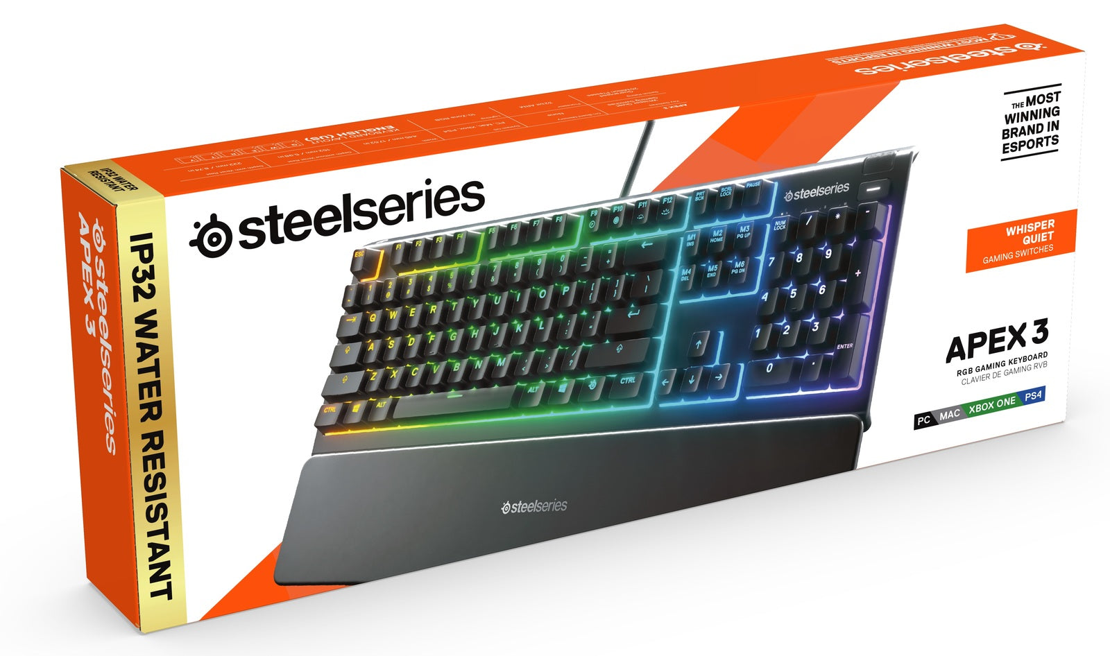 Steelseries Apex 3 Gaming Keyboard (US) - PC Games