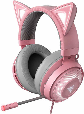 Razer Kraken Kitty Ears Chroma USB Headset (Quartz) - PC Games