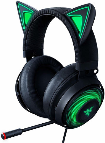 Razer Kraken Kitty Ears Chroma USB Headset (Black) - PC Games