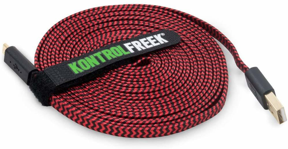 Kontrol Freek Gaming USB Cable (Red & Black) - PS4