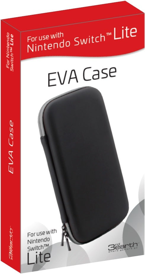 Nintendo Switch Lite EVA Case Black - Grey Zip - Nintendo Switch