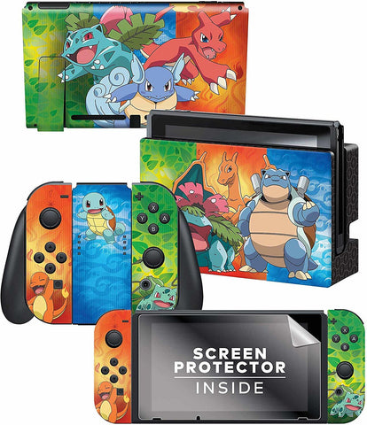 Controller Gear Officially Licensed Nintendo Switch Skin & Screen Protector Set – Pokemon - Nintendo Switch