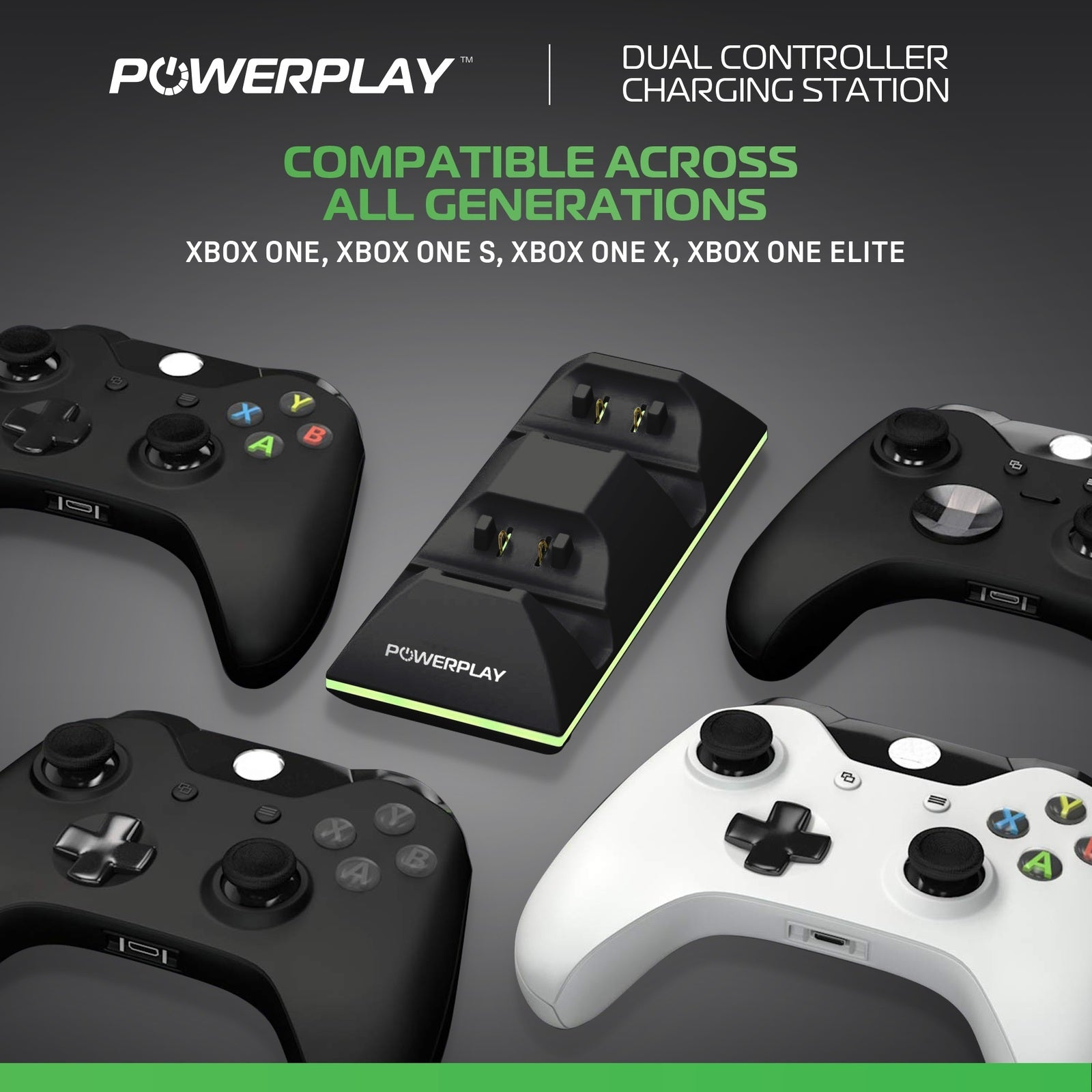PowerPlay Xbox One Dual Controller Charging Station (Black) - Xbox One