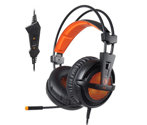 SADES A6 Gaming Headset (Orange) - PC Games