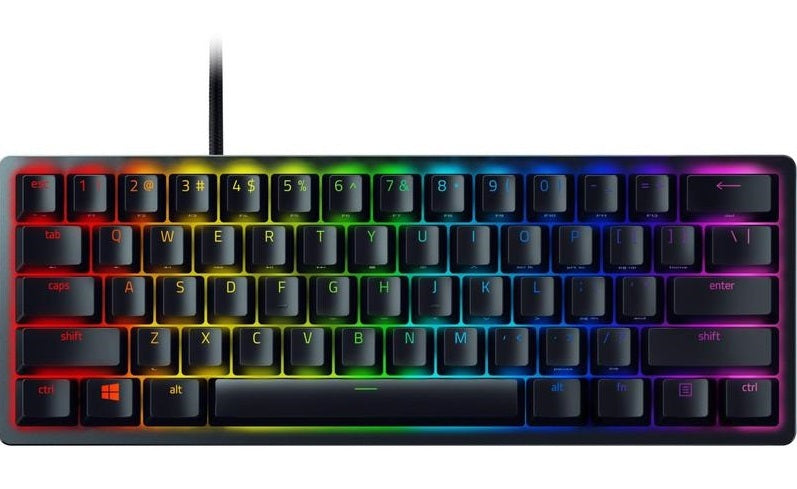 Razer Huntsman Mini Gaming Keyboard (Clicky Purple Switch) - PC Games