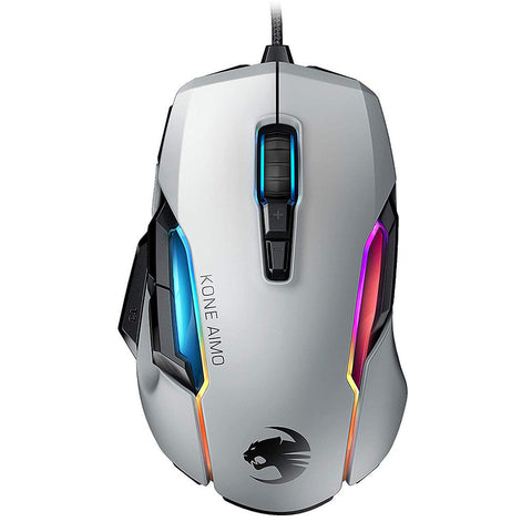 ROCCAT Kone Aimo Remastered Gaming Mouse - White - PC Games