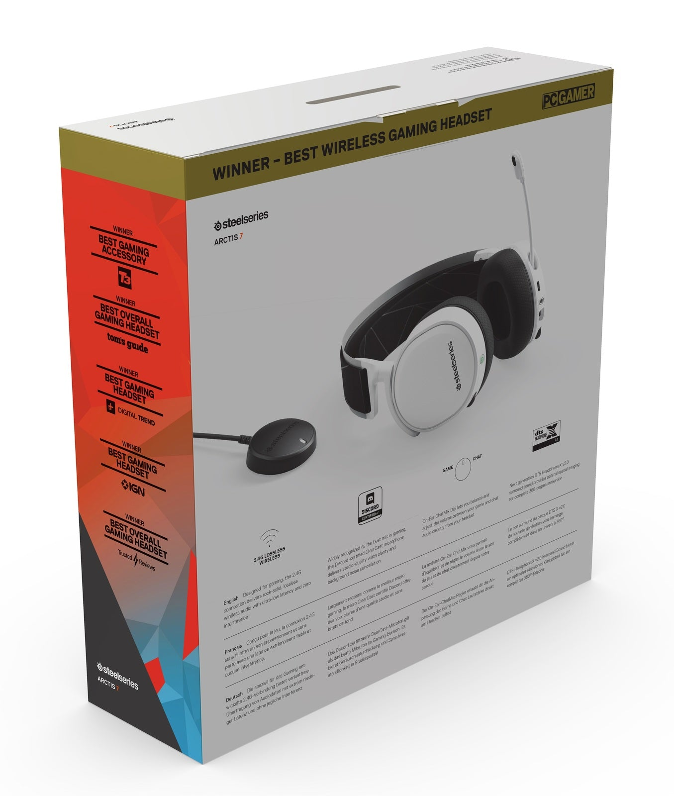 SteelSeries Arctis 7 Wireless Gaming Headset (White) - Xbox One