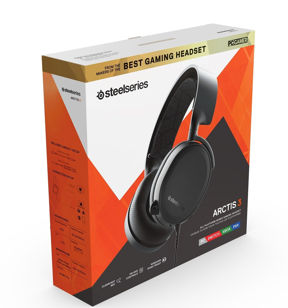 SteelSeries Arctis 3 Wired Gaming Headset (Black) - PC Games