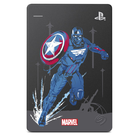 2TB Seagate Marvel's Avengers Game Drive for PlayStation 4 (Captain America)