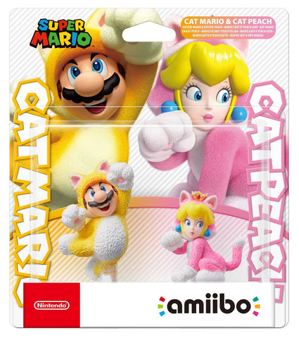 Nintendo Amiibo Cat Mario and Cat Peach - Nintendo Switch