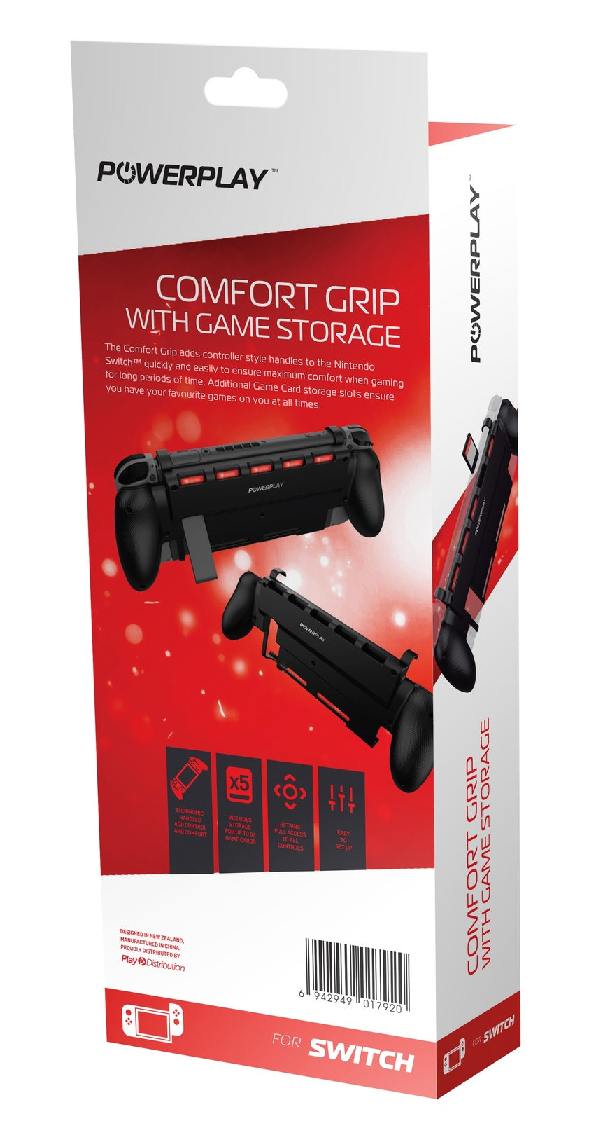 PowerPlay Switch Comfort Grip (with Game Storage) - Nintendo Switch