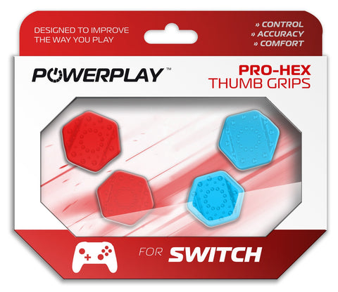 PowerPlay Switch Pro-Hex Thumb Grips (Neon) - Nintendo Switch