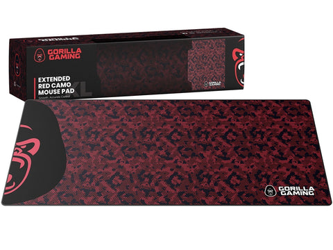 Gorilla Gaming Extended Mouse Pad - XL (Red Camo) - PC Games