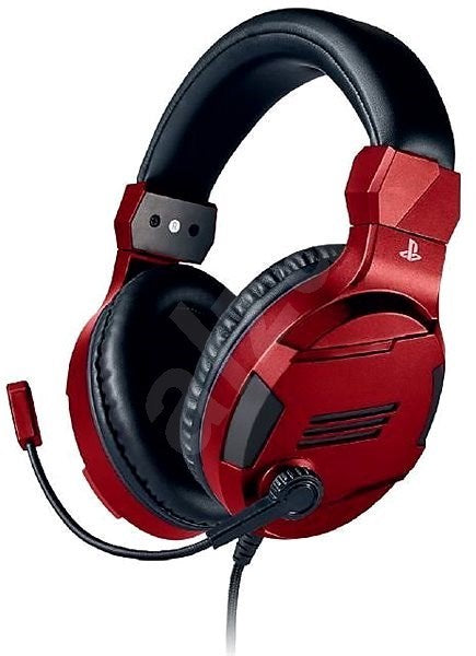 Officially Licensed PS4 Stereo Gaming headset (Red) - PS4