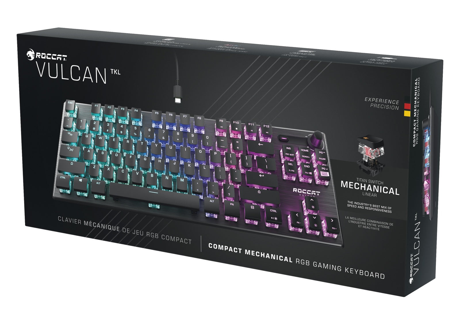 ROCCAT Vulcan TKL Compact Mechanical RGB Gaming Keyboard - PC Games