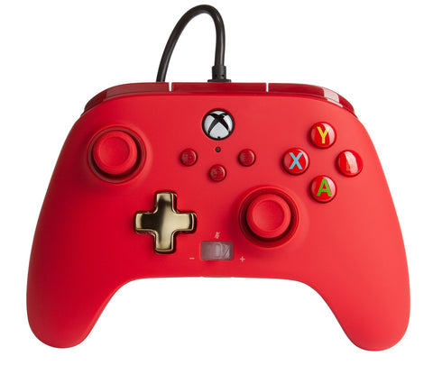 PowerA Xbox Enhanced Wired Controller (Bold Red) - Xbox Series X