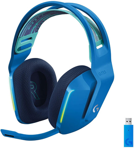 Logitech G733 LIGHTSPEED Wireless RGB Gaming Headset - Blue - PS4