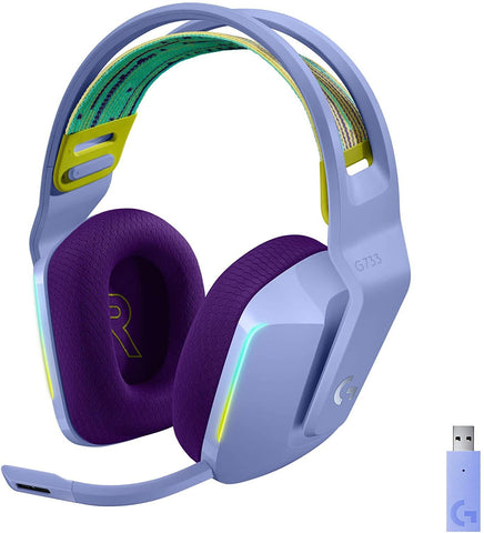 Logitech G733 LIGHTSPEED Wireless RGB Gaming Headset - Lilac - PS4