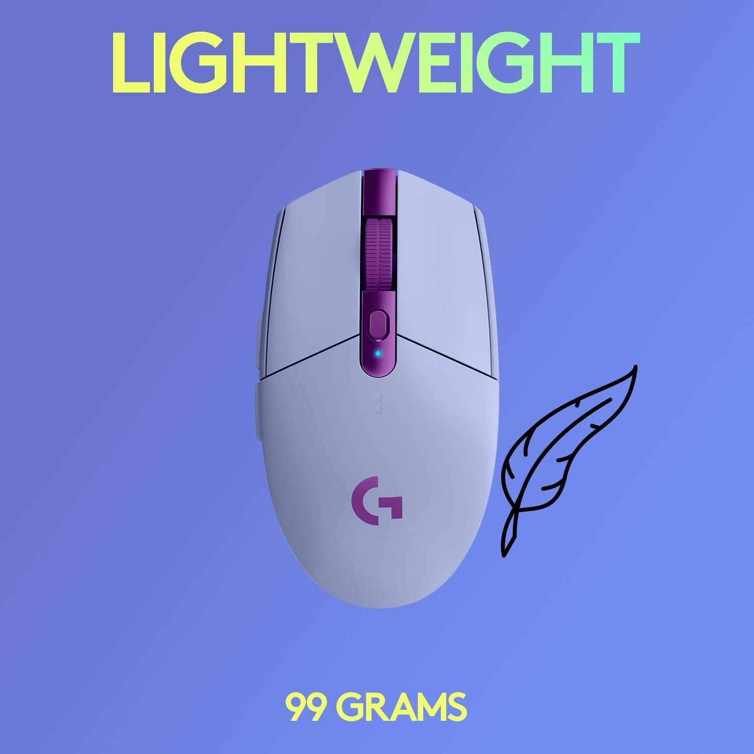 Logitech G305 LIGHTSPEED Wireless Gaming Mouse - Lilac - PC Games