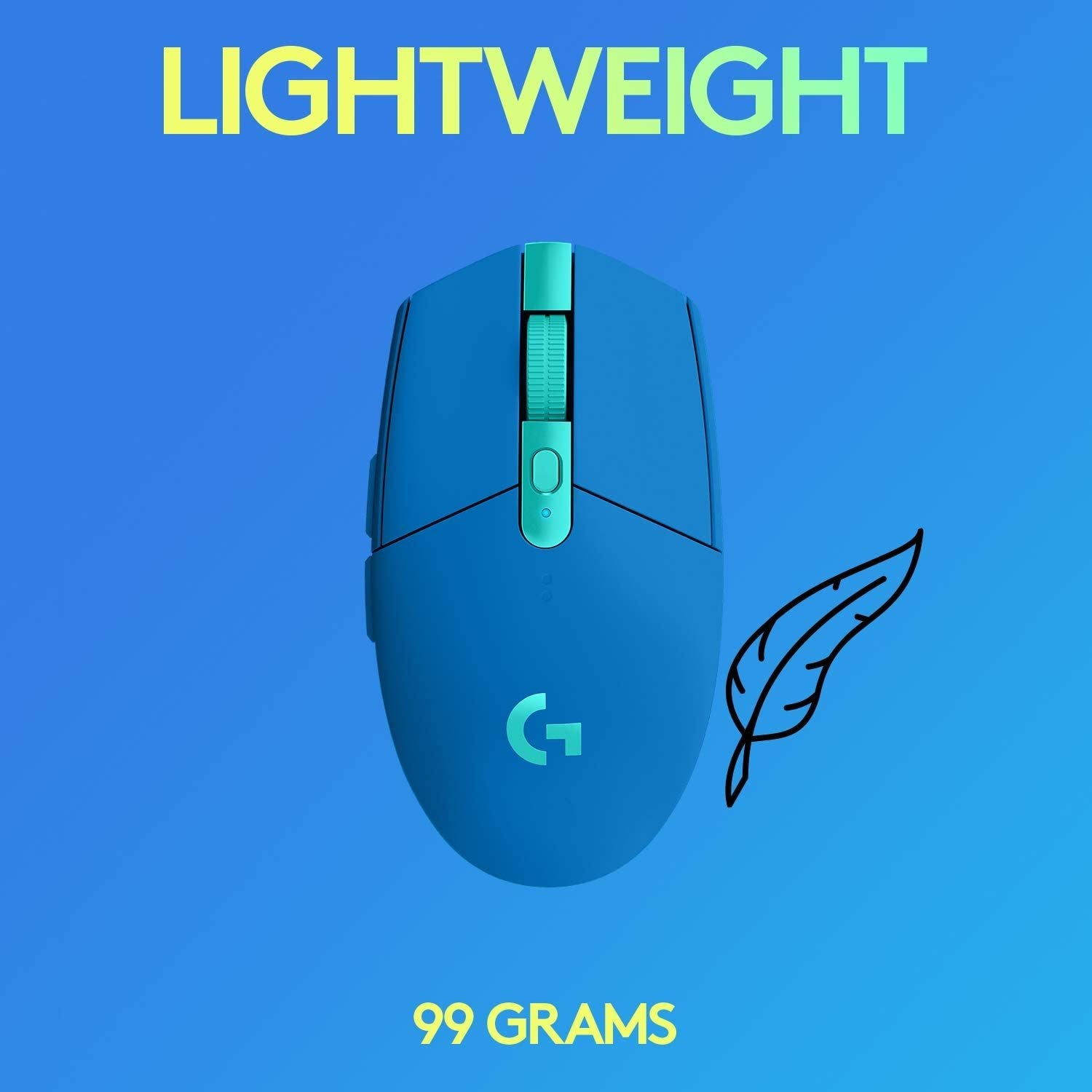 Logitech G305 LIGHTSPEED Wireless Gaming Mouse - Blue - PC Games