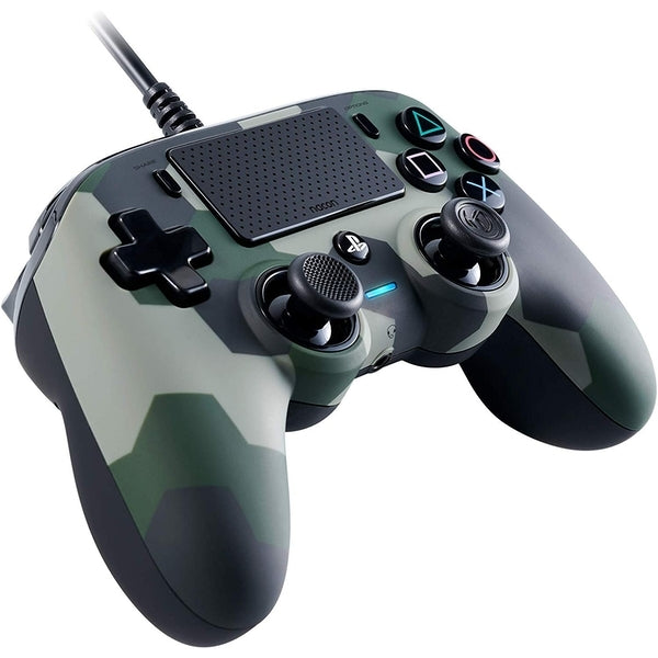 Nacon PS4 Compact Wired Gaming Controller - Camo Green - PS4