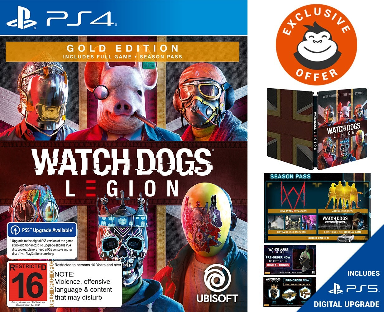 Watch Dogs Legion Gold Steelbook Edition - PS4