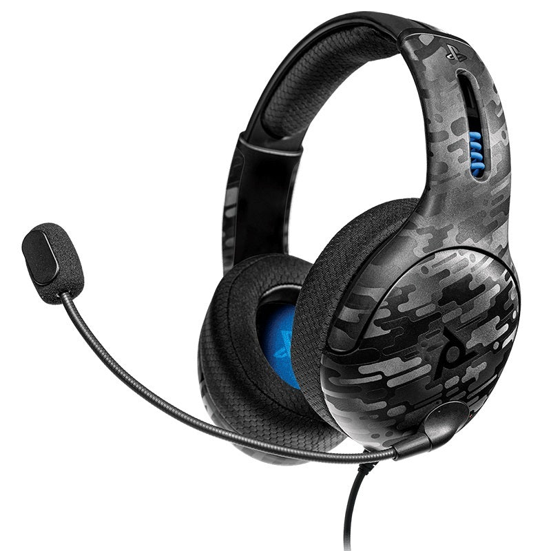 PDP LVL50 Wired Stereo Gaming Headset - Black Camo - PS4