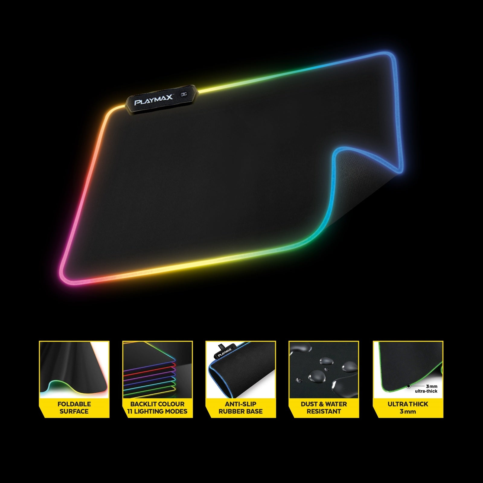 Playmax Surface RGB X1 Mouse Mat - PC Games