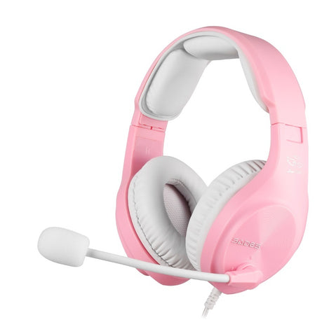 SADES A2 Gaming Headset (Pink) - PC Games