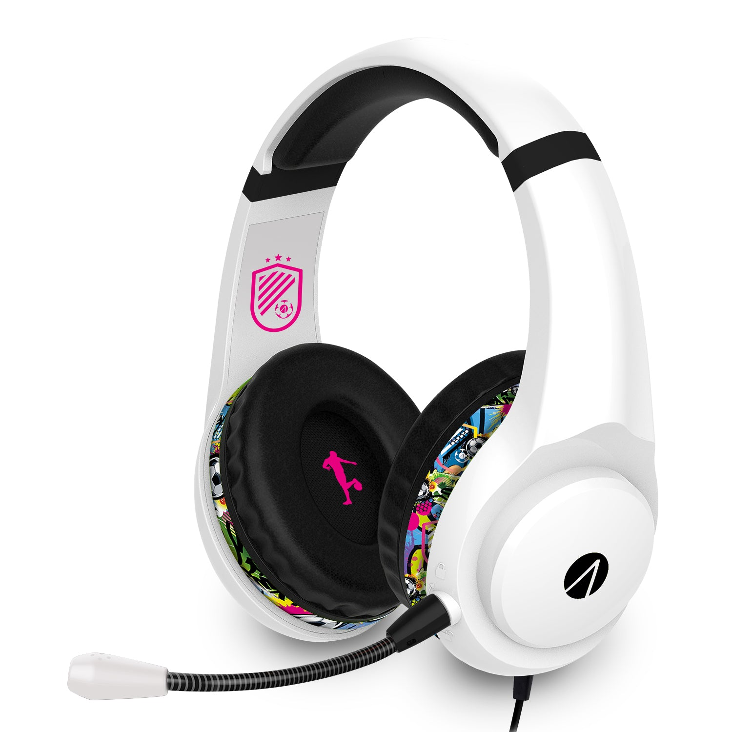 STEALTH Street Gaming Headset with Stand (White with Black/Graffiti stand) - Xbox One