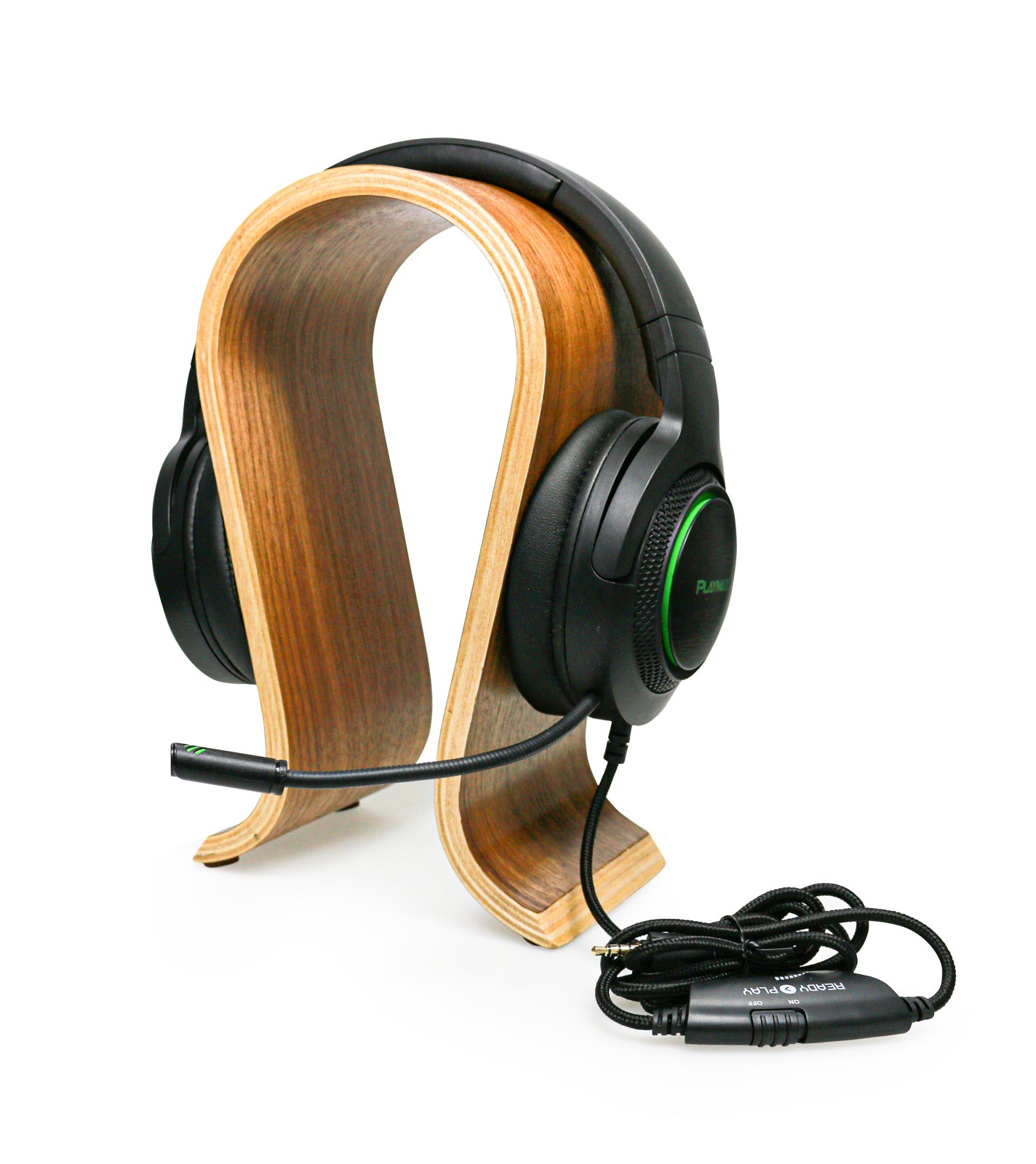 Playmax Wooden Headset Stand - Natural - PC Games