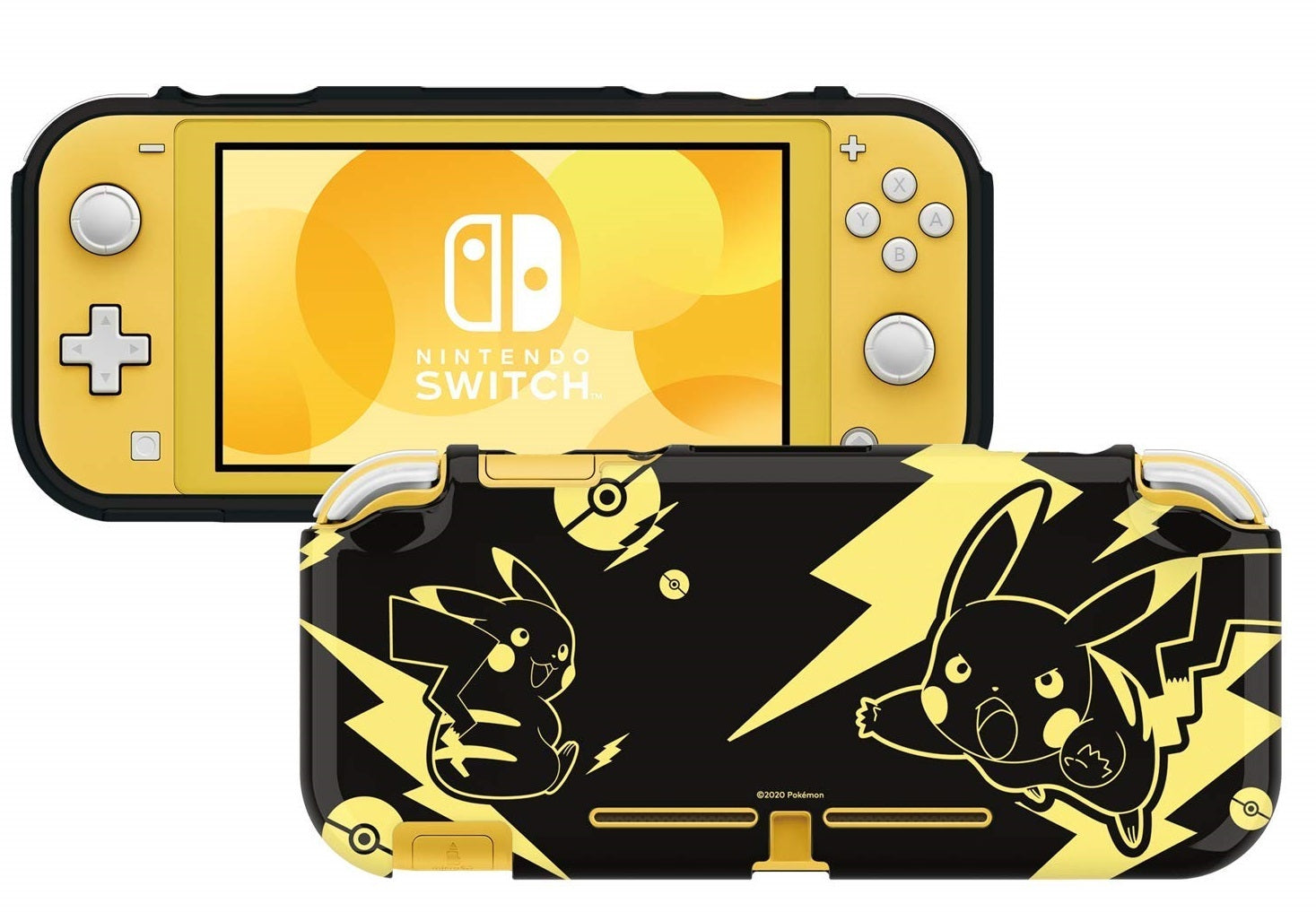 Switch Lite DuraFlexi Protector (Pikachu Black & Gold) by Hori - Nintendo Switch