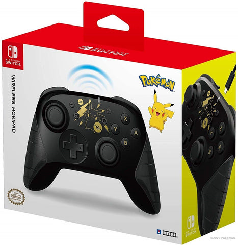 Hori Switch Wireless HORIPAD (Pikachu Black & Gold) - Nintendo Switch