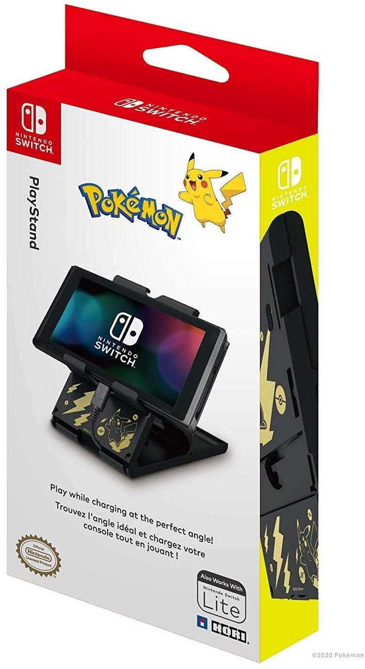 Playstand for Nintendo Switch (Pikachu Black & Gold) by Hori - Nintendo Switch