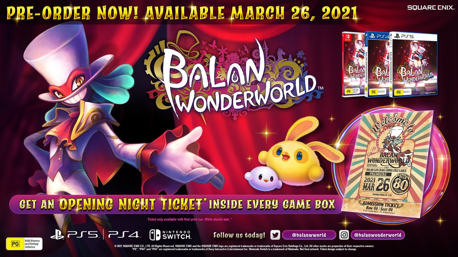 Balan Wonderworld Day One Edition - PS4