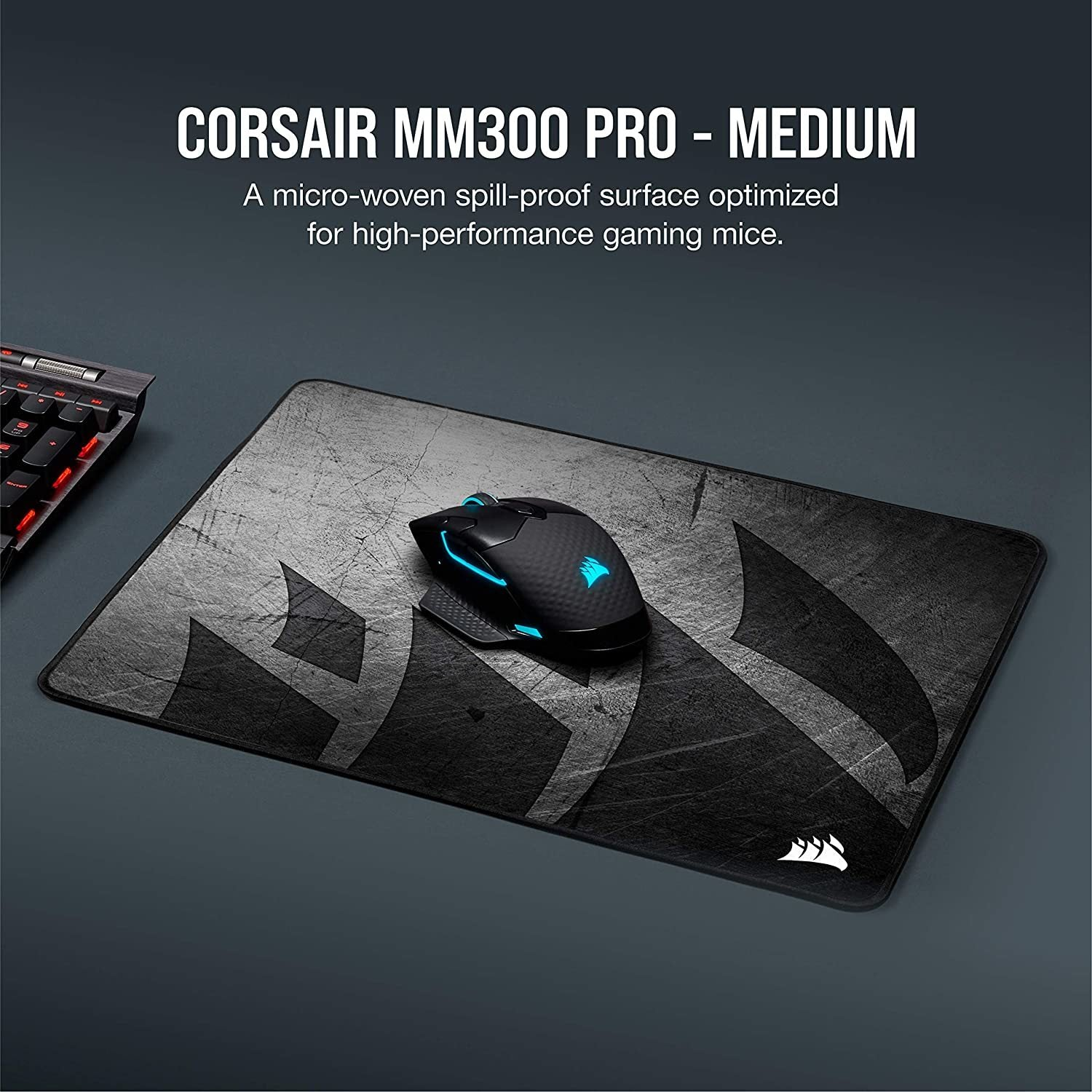 Corsair MM300 PRO Premium Spill-Proof Cloth Gaming Mouse Pad (Medium) - PC Games