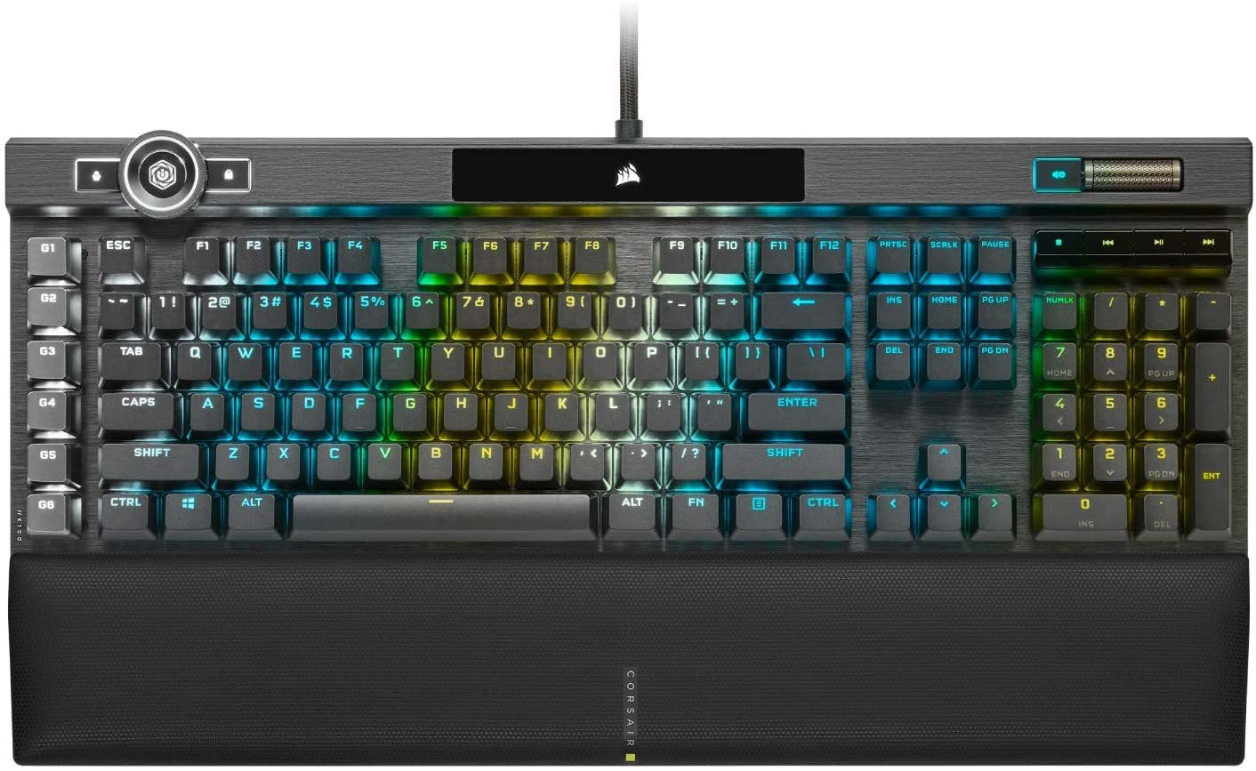 Corsair K100 RGB Optical Mechanical Gaming Keyboard (OPX Switch) - PC Games