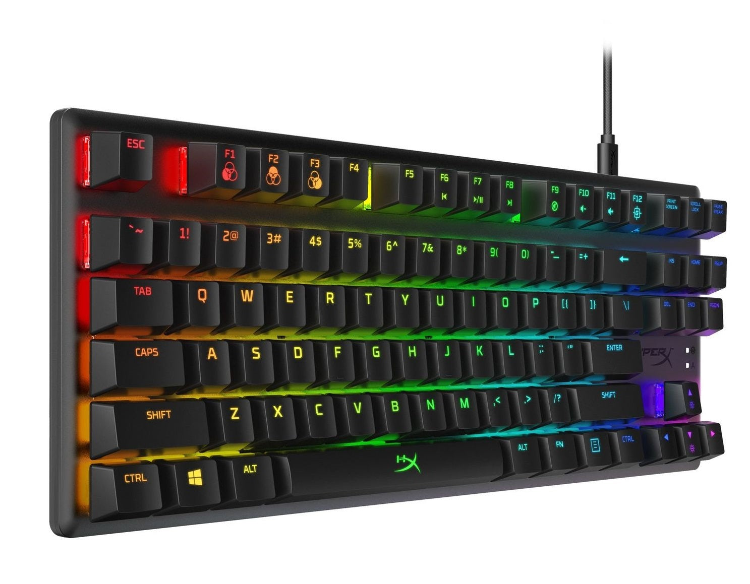 HyperX Alloy Origins CORE RGB Mechanical Gaming Keyboard (HyperX Blue Switches) - PC Games
