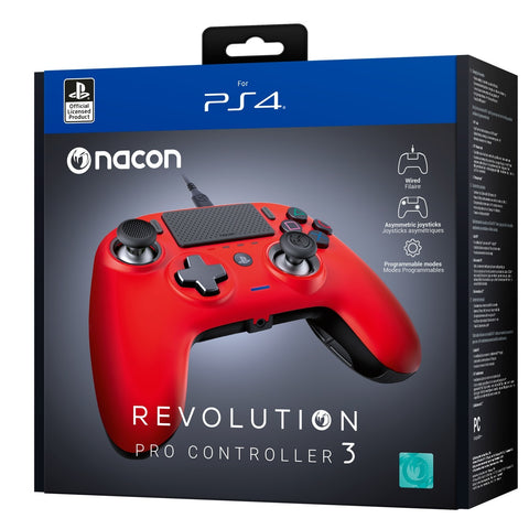Nacon PS4 Revolution Pro Gaming Controller v3 - Red - PS4