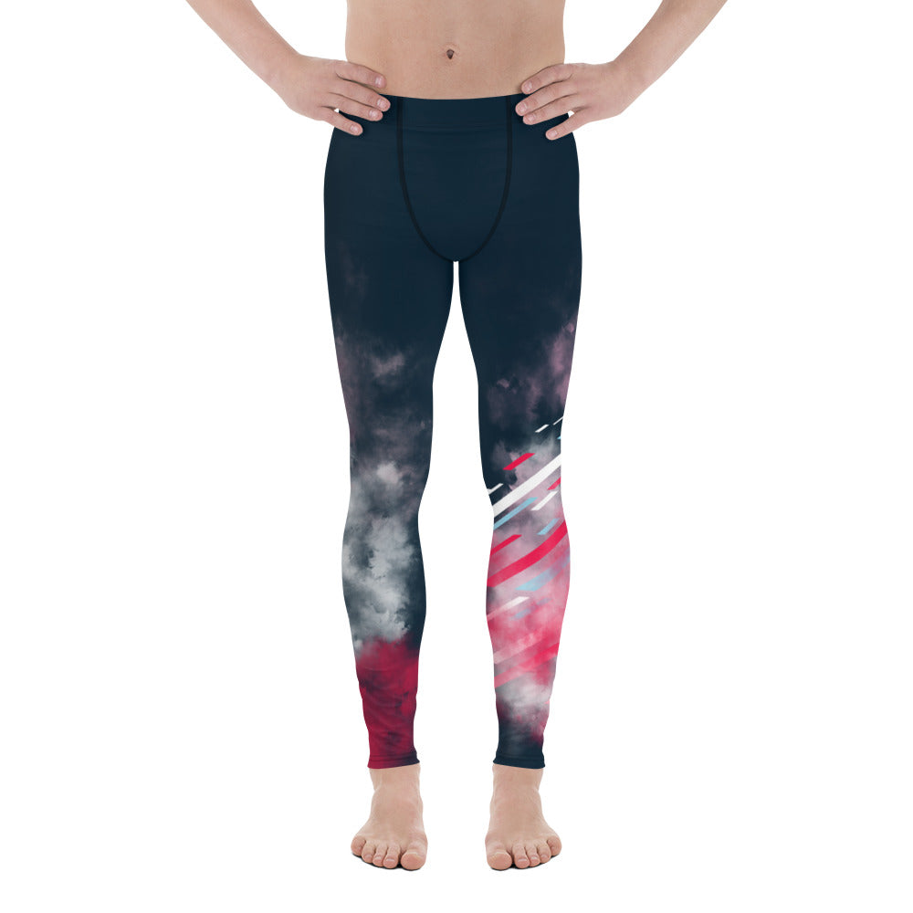 Navy/Magenta Men's Leggings